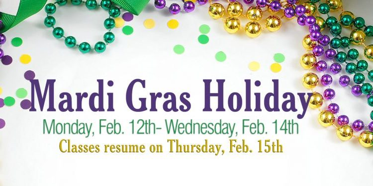 Mardi Gras Break Dates 2018